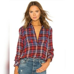 | FREE PEOPLE | Magical Plaid Buttom Down